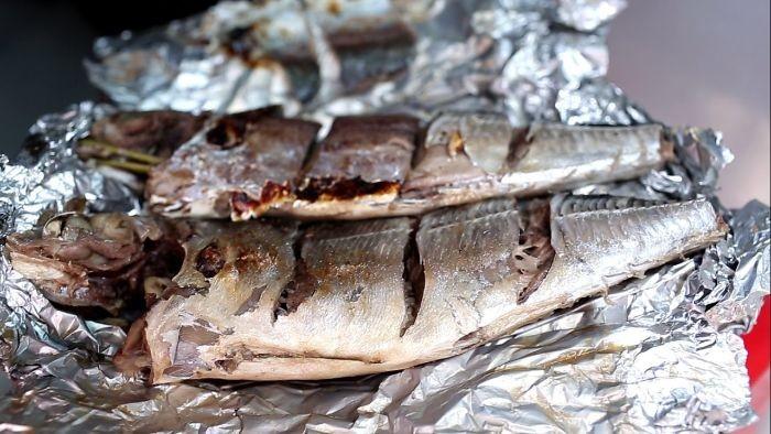 Cá sòng nướng giấy bạc