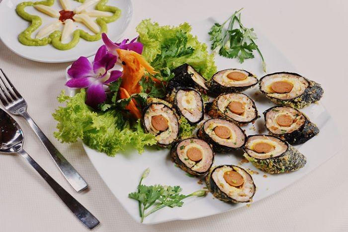 Cá trích chả giò rong biển là món ăn giàu dinh dưỡng