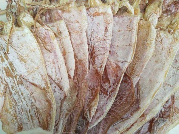 Khô mực của Hải Sản Trung Nam được chế biến từ những con mực tươi sống, đánh bắt trực tiếp dưới biển