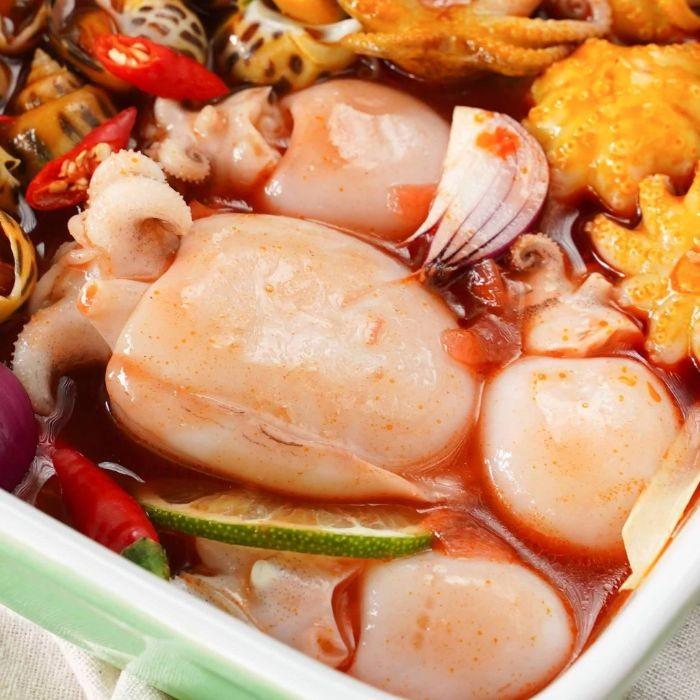 Mực nang sốt cay là món ăn đưa cơm nhất trong những ngày mưa