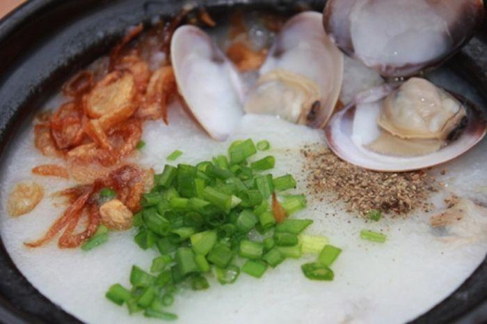 Món cháo ngao biển bổ dưỡng, thơm ngon