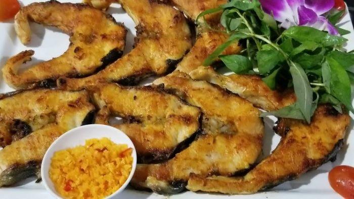 Món cá tầm nướng muối ớt thơm ngon, bổ dưỡng