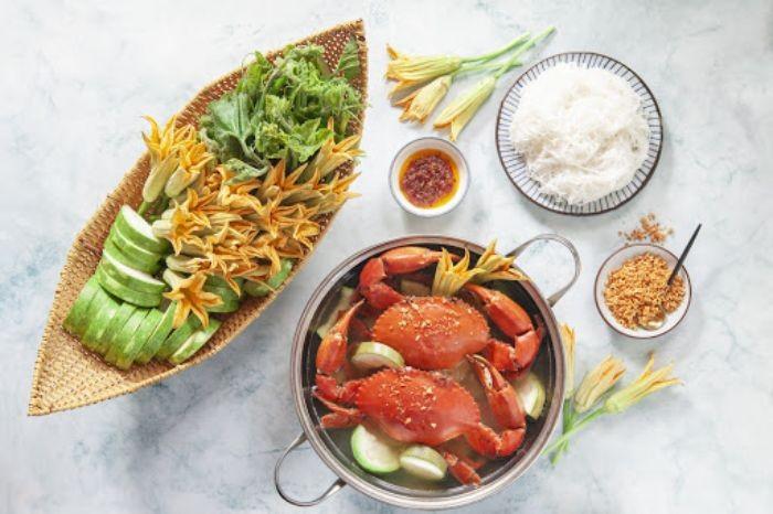 Giá trị dinh dưỡng của lẩu cua nấu bầu