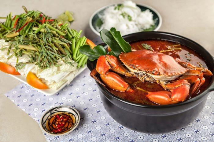 Nguyên liệu cho món cua biển nấu bầu