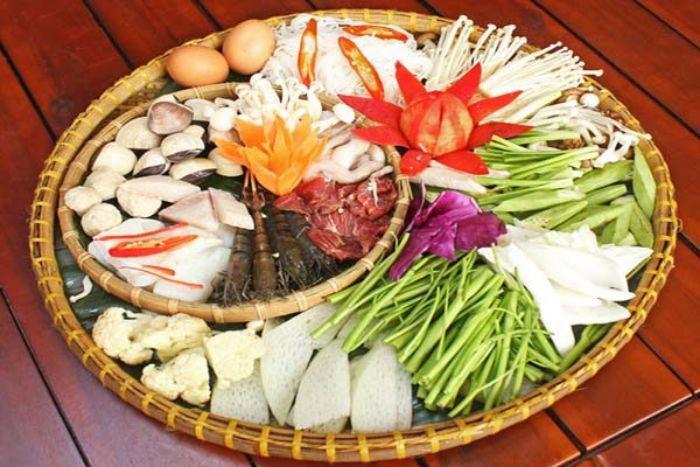 Một số nguyên liệu cần chuẩn bị để chế biến món lẩu Thái Lan
