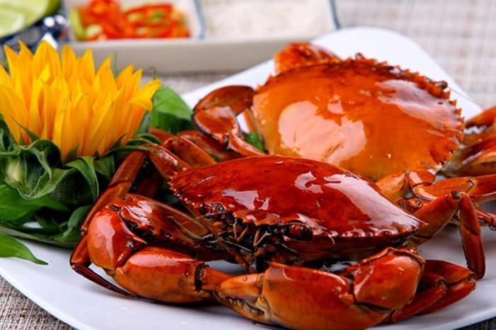 Cua biển được chế biến thành nhiều món ăn thơm ngon