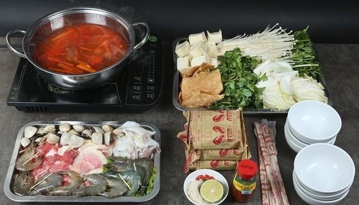 Cach Nau Lau Kim Chi Hai San 1