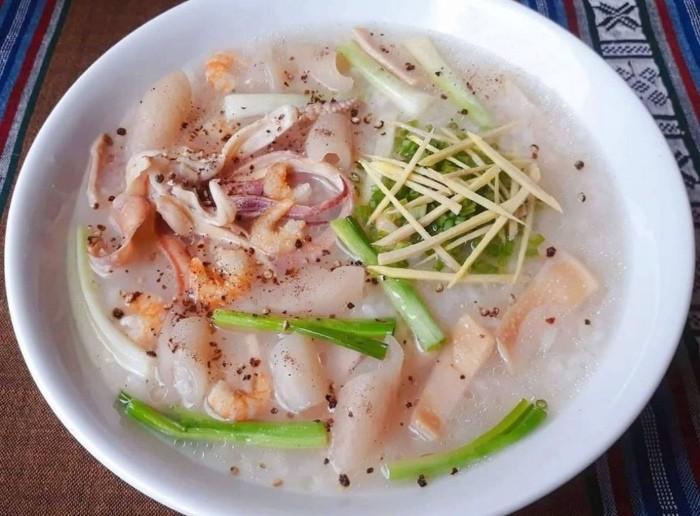 Cach Nau Chao Muc 4